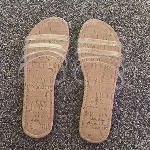 WORN ONCE: slide in sandals